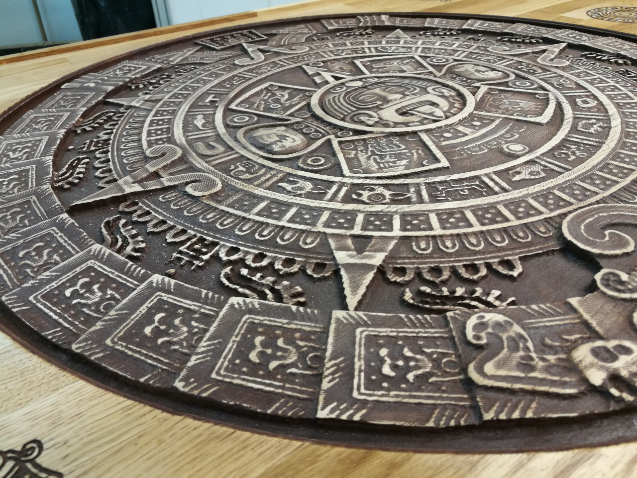 Calendrier Maya Dessin.Table Basse Calendrier Maya 3d Atelier Federico