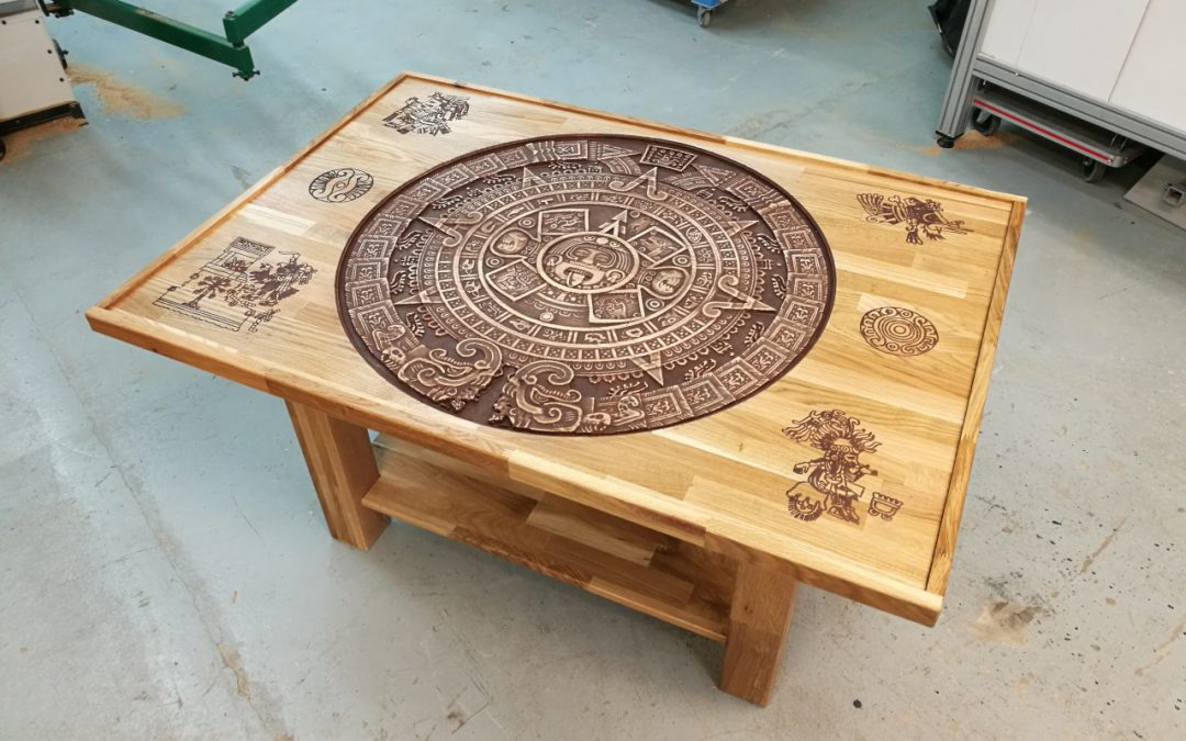 Table basse calendrier Maya 3D