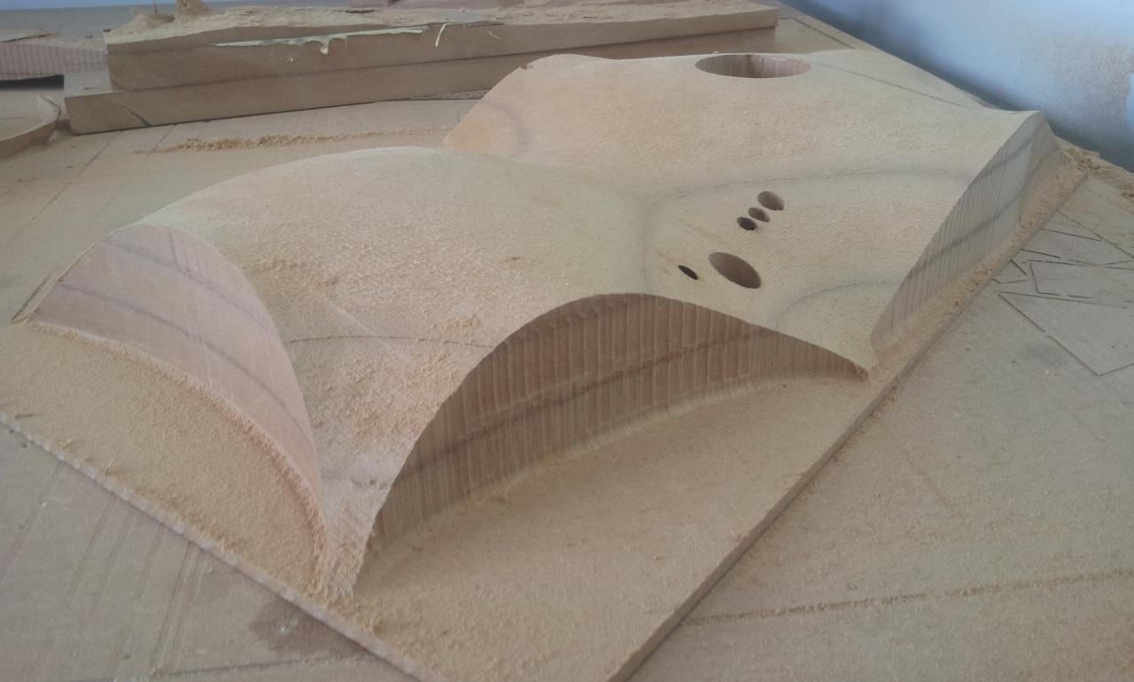 Maquette d'architecte usinée CNC 3D